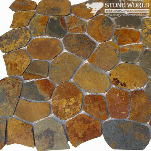 Natural Rusty Brown Slate Tiles for Flooring & Outdoor Steps (CS-002)