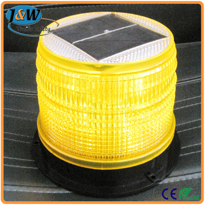 Solar Powered LED Strobe Warning Beacon Light
