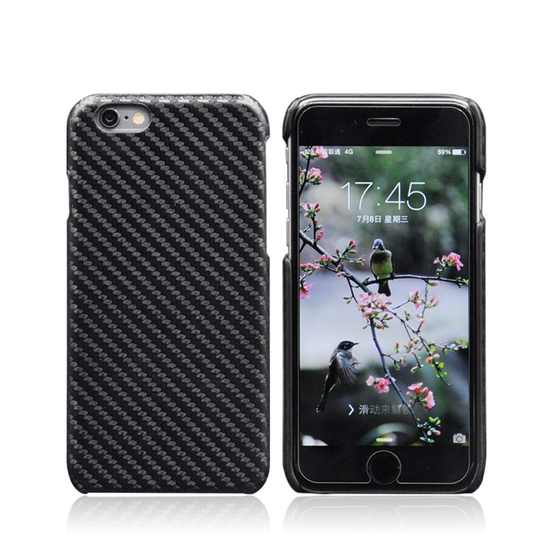Professional Carbon Fiber PU Leather Back Case Cover for iPhone 6 6s