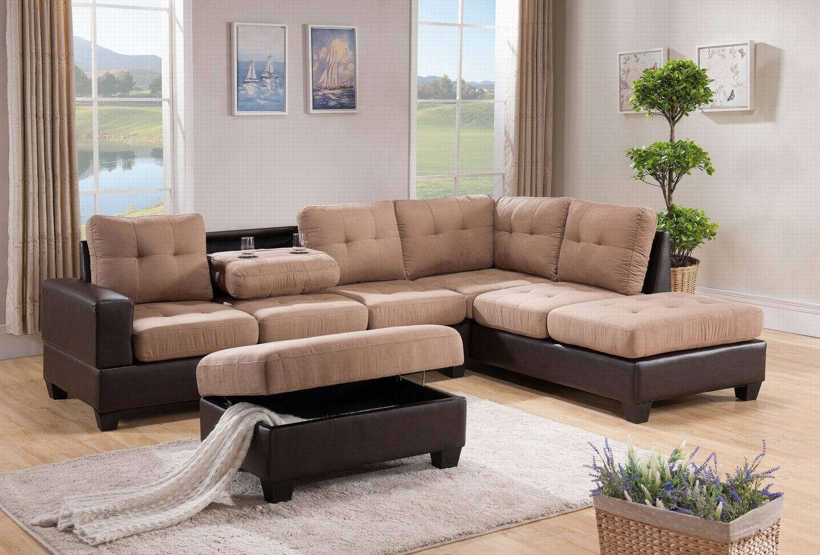 3093 Fabric Sectional Sofa