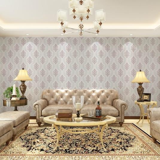 Seamless Luxury Classic Embossing Wallpaper Fabric Bedroom Livingroom