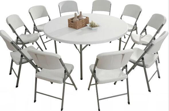 Modern Cheap Plastic Foldable Round Table (YCZ-160R)