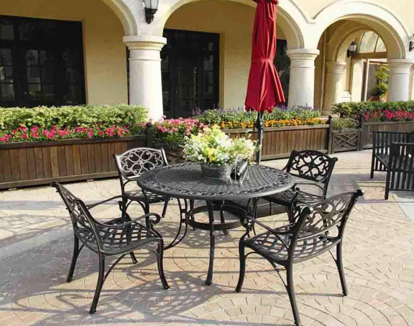 Elegant Dining Set Cast Aluminum Outdoor Furniture