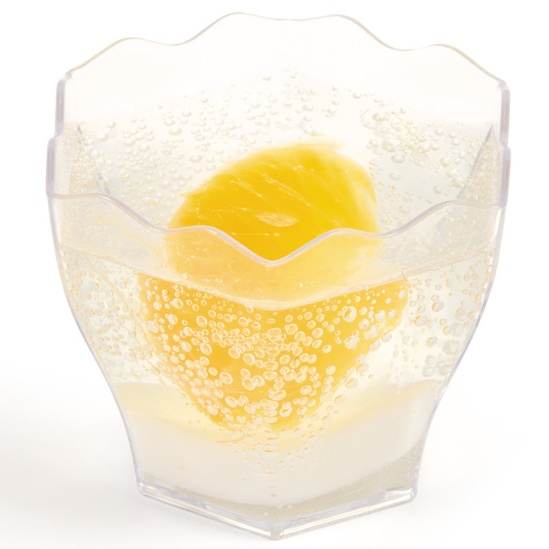 PP/PS Plastic Cup Flower Shaped 2.3 Oz