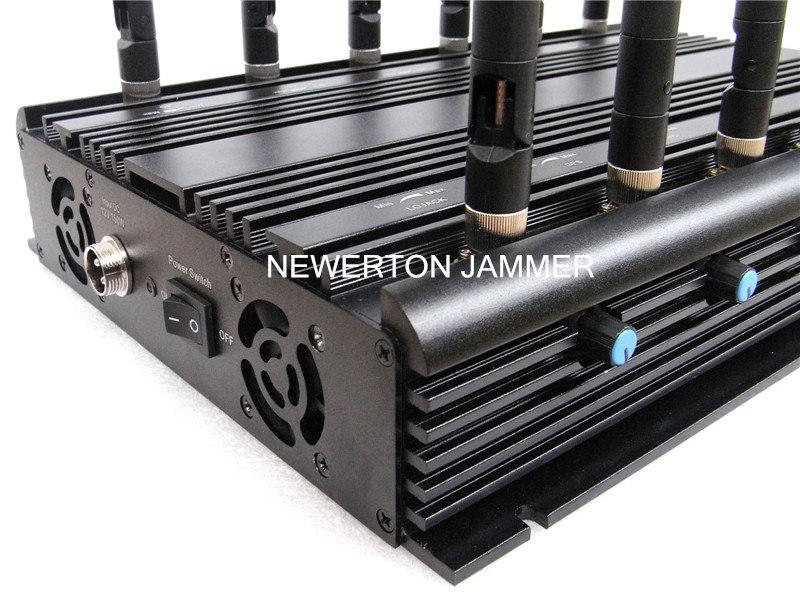 Stationary 12 Bands Desktop Jammer Blocker for All Cellphone, Remote Control, VHF/UHF RF Radio Jammer/Blocker; All in One Jammer/Blocker