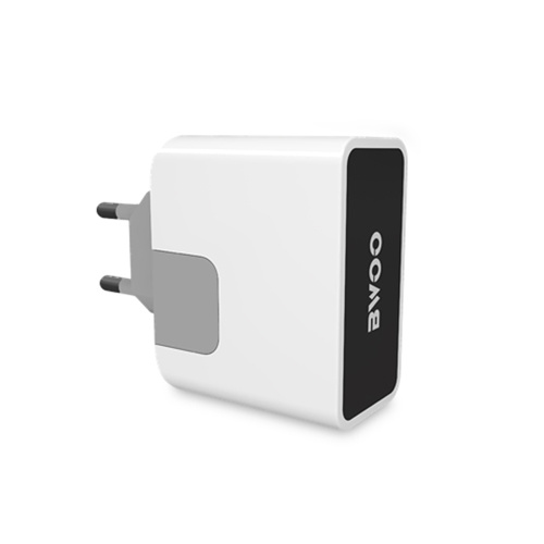 Dual USB Wall Charger with Blue LED Indicator