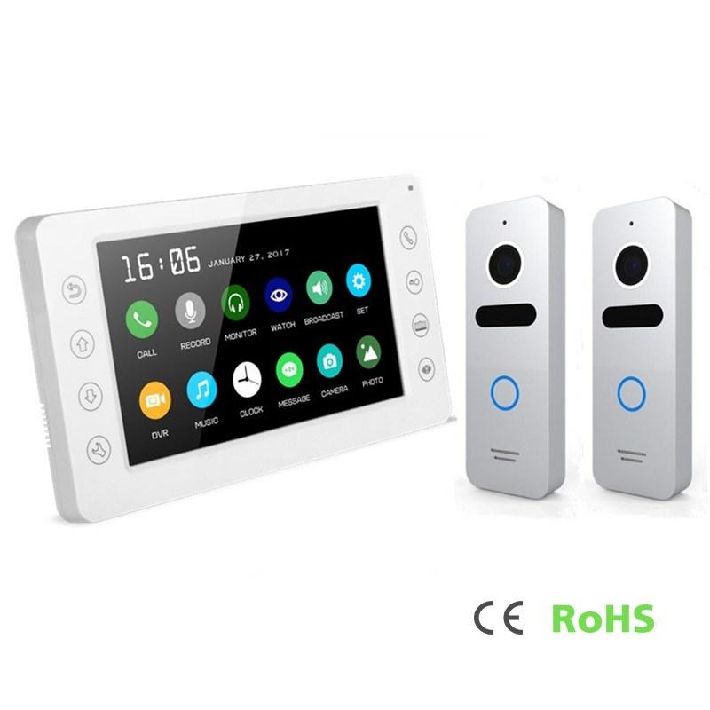 Home Security Interphone 7 Inches Intercom Video Doorphone with Memory