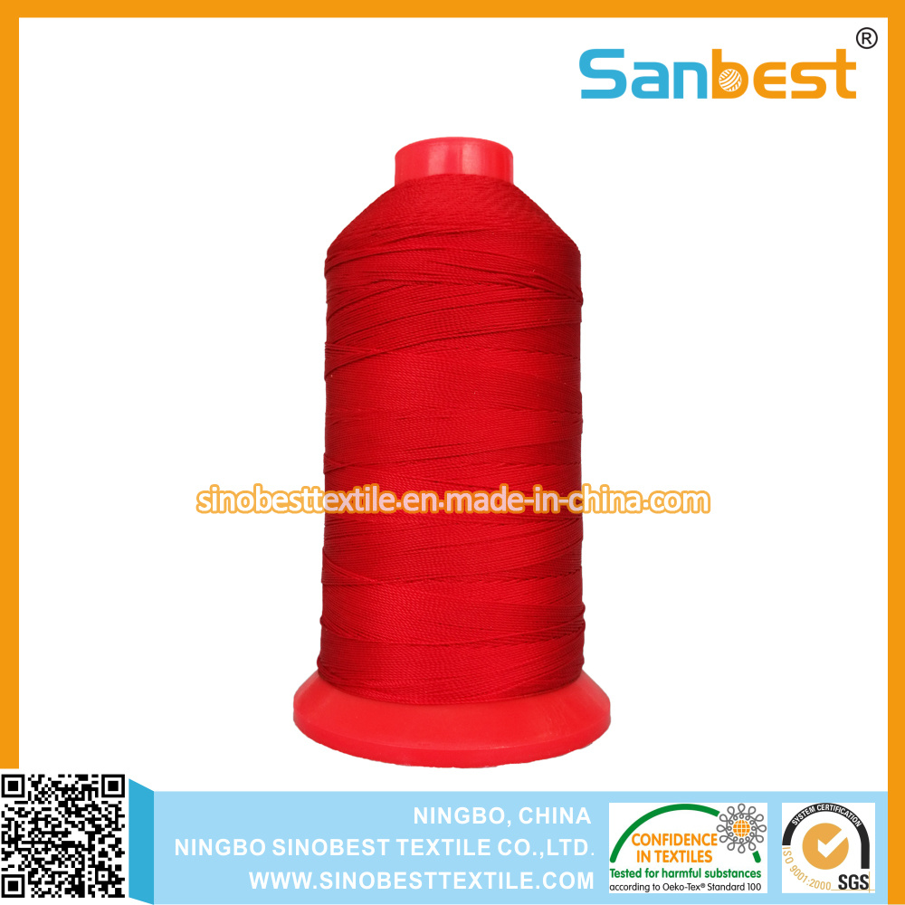 100% Bonded Polyester Multi-Filaments Sewing Thread for Leather Footwear