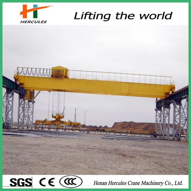 Low Price Double Girders Bridge Crane with Grab or Hook