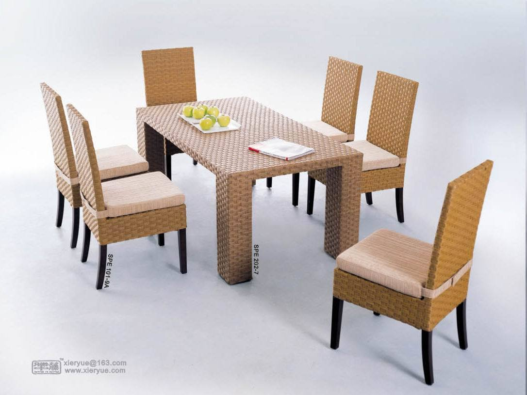 China water hyacinth furniture dining table chair