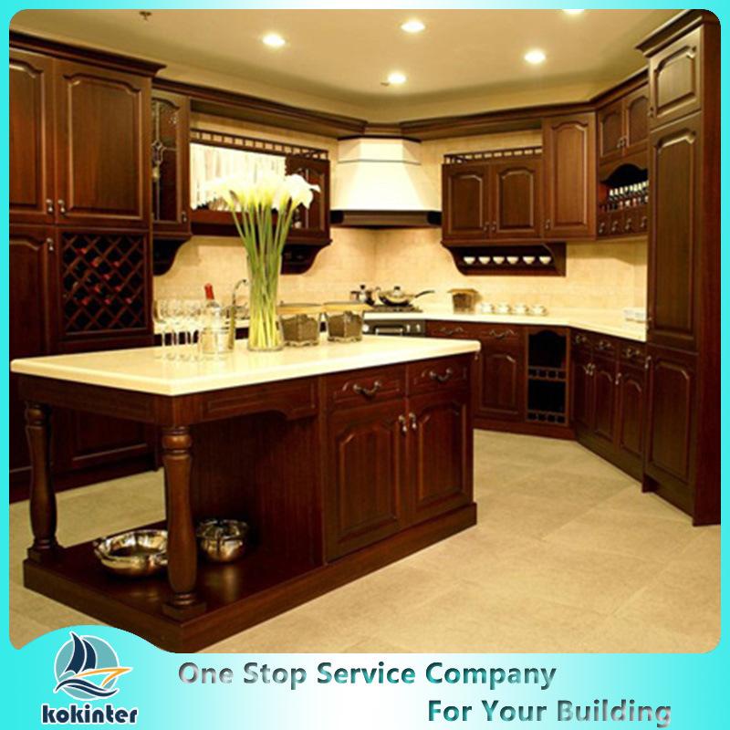 Luxury American Solid Wood Kitchen Cabinet Modern