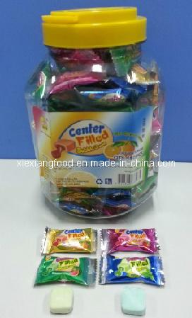 Center Filled Bubble Gum with Fruit Jam Center and 100% Original