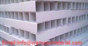 Plastic Pipe-PVC Rectangular Hollow Pipe