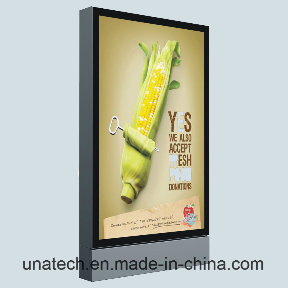 Outdoor Aisle Advertisement LED Scrolling Polymeric Vinyl Billboard Vertical Ads Lightbox