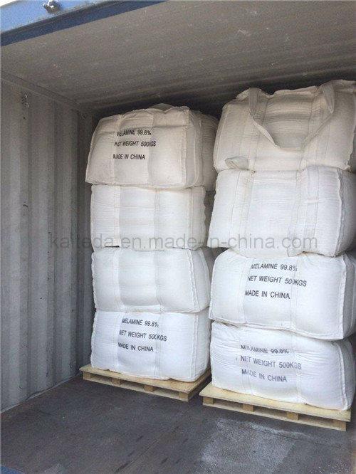 Industrial Grade White Crystalline Melamine 99.8% for Resin