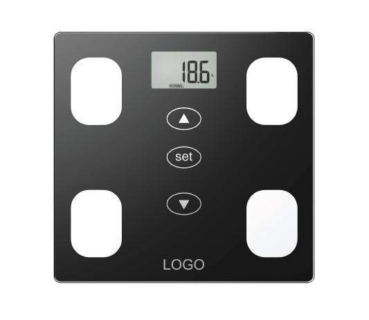 Glass Platform Electronic Body Fat Scale with Full Base