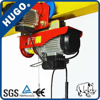 Wireless Remote Mini Electric Wire Rope Hoist Elevator Machine