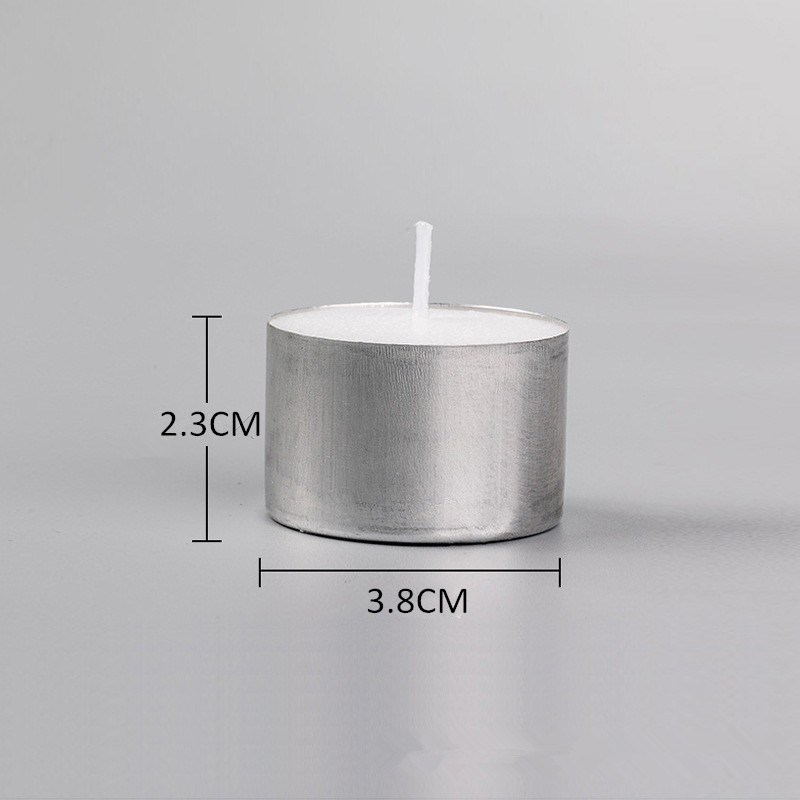 8 Hour White Tealight Candle with Aluminium Holder