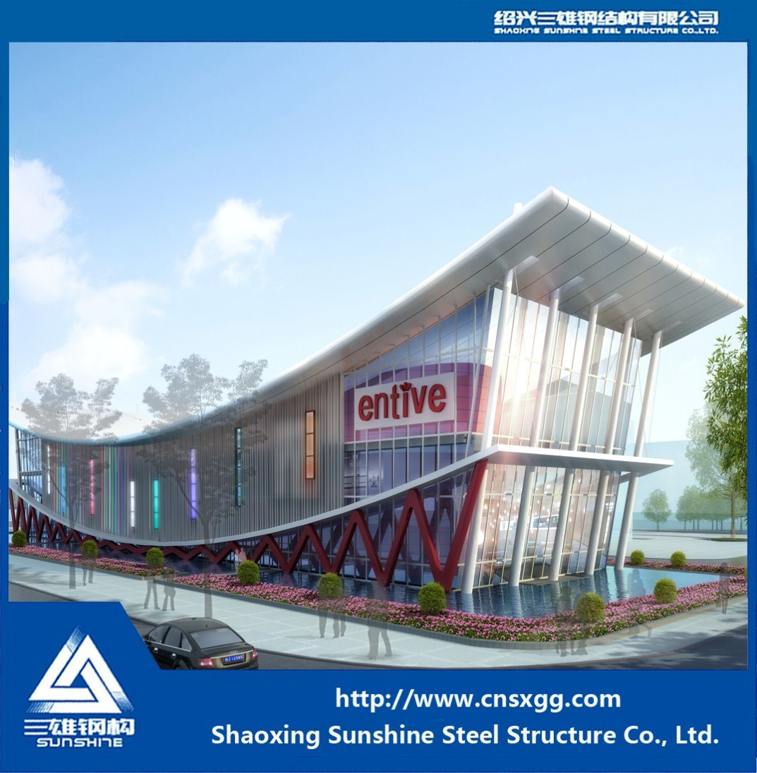 Light Weight Steel Structure Hall with H Beam for Decorated Exhibition