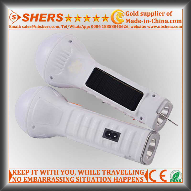 Solar LED Flashlight for Hunting with 15 LED Torch, USB (SH-1932)