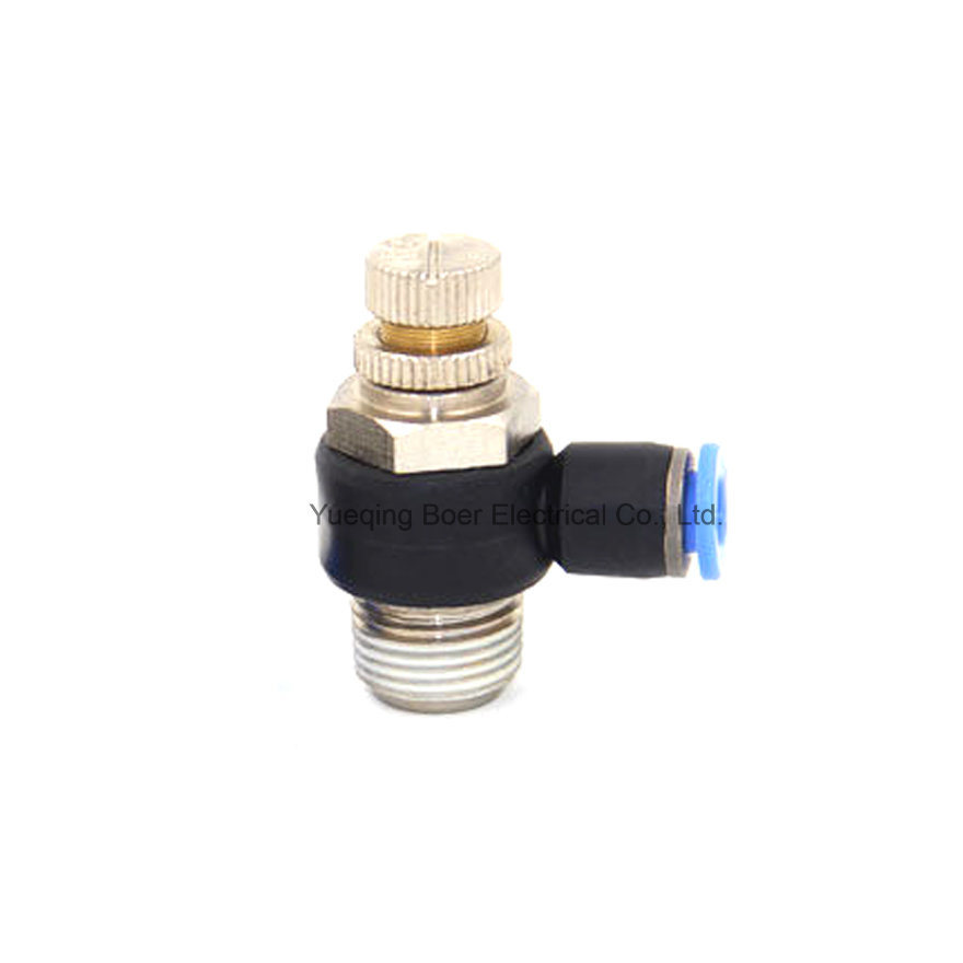 Speed Control Valve Pneumatic Fittings L-Type Throttle Control Fittings