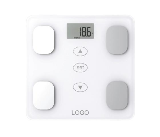 Electronic Glass Body Fat Scale with S. S. Plate and Full Plastic Base