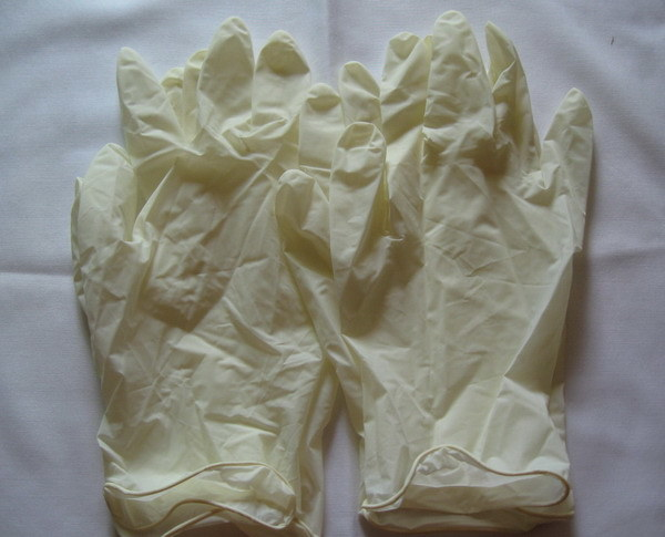 Hot Sale Dental Fancy Powder Latex Examination Gloves 4.8gram to 6.5gram