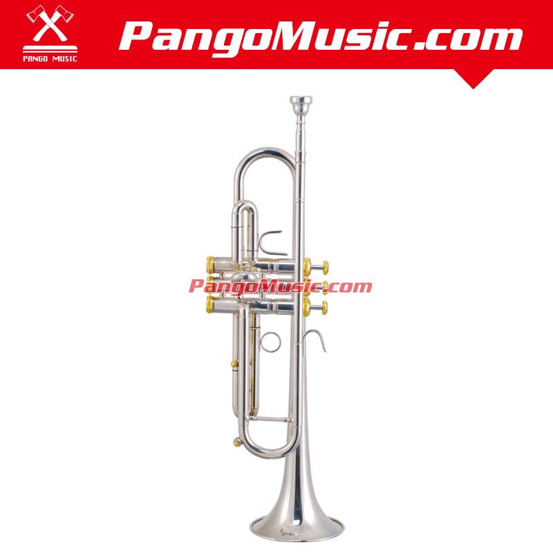 Bb Tone Brass Body Professional Trumpet (Pango PMTR-1450)