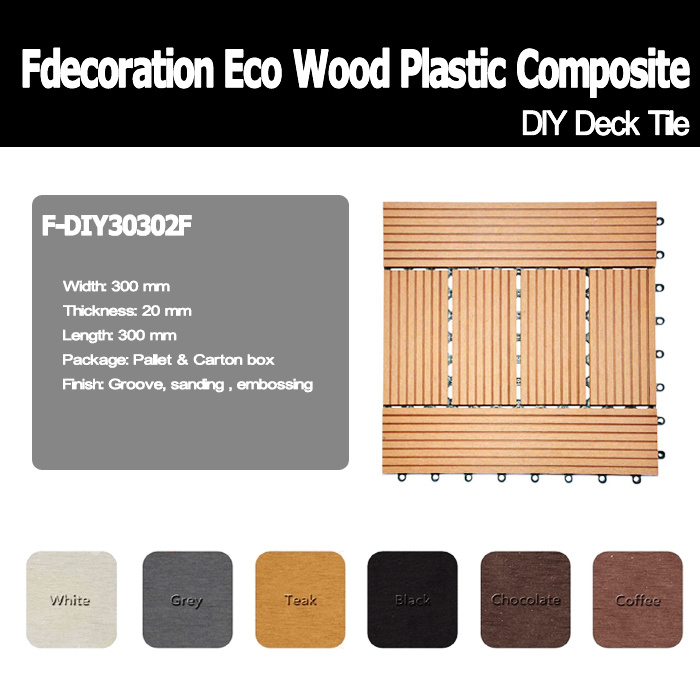 DIY Outdoor Wood Plastic Composite Decking WPC Flooring