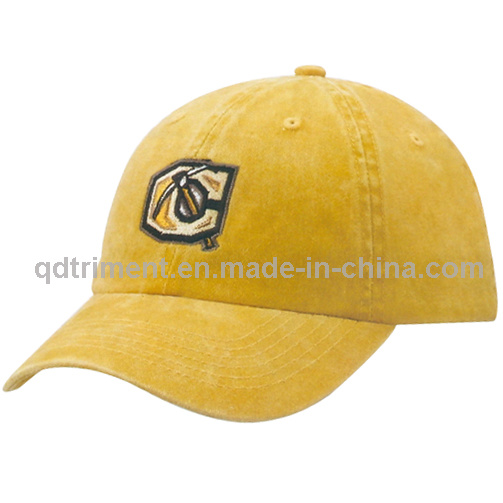 Washed Pigment Dyed Embroidery Cotton Twill Baseball Cap (TMB35)