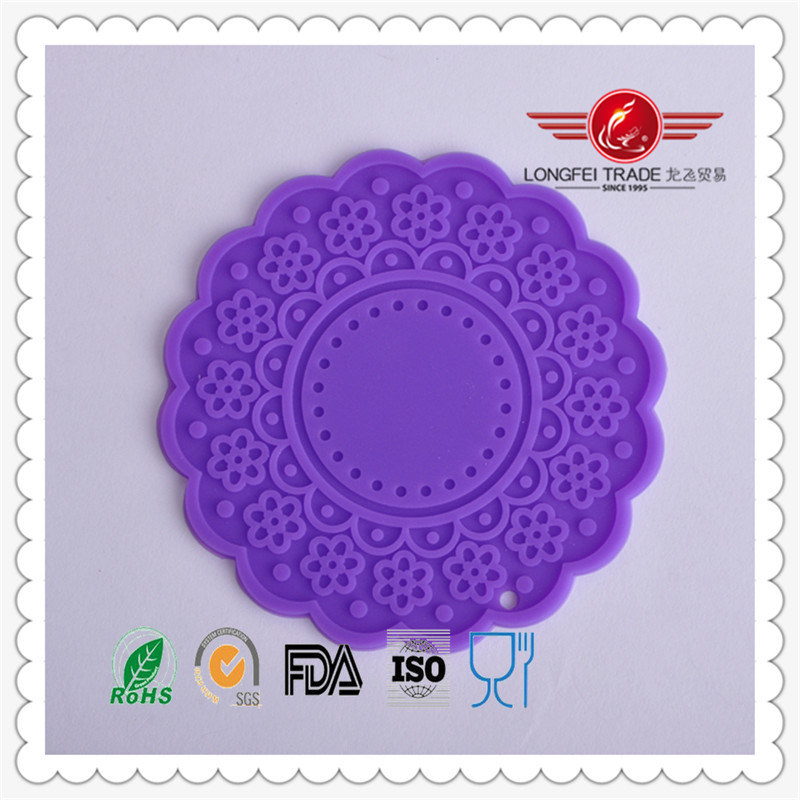 2015 Popular High Quality Round Silicone Lace Mat