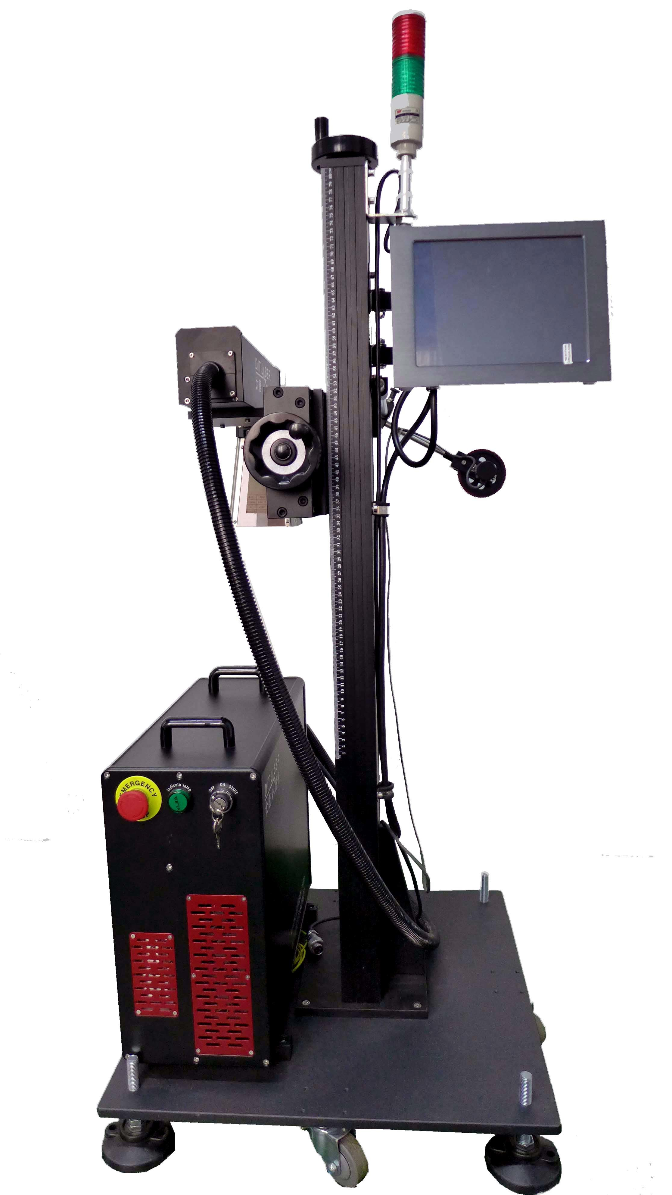 20W 30W 50W Fiber Laser Marker for PP/PVC/PE/HDPE Plastic Pipe, Fittings etc Non Metal