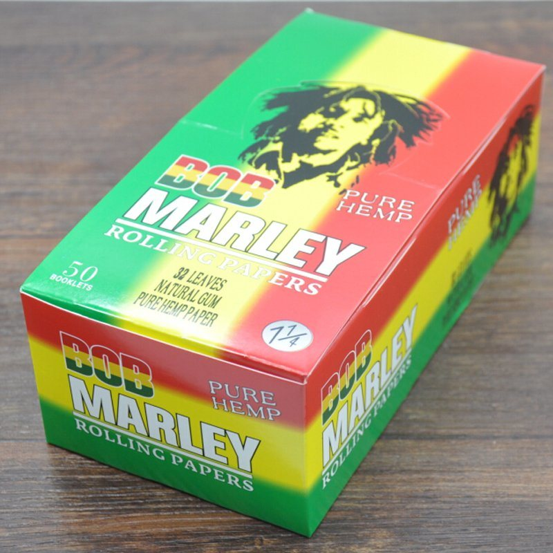 1600 Leaves/Box Ultra Bob Marley Hemp Cigarette Rolling Papers (ES-RP-014)