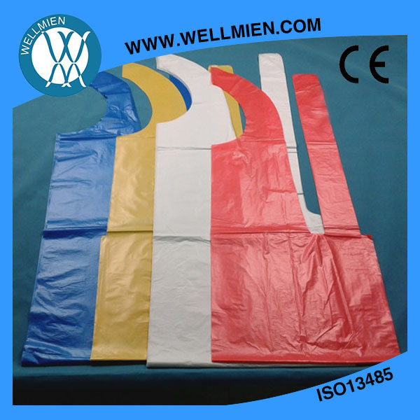 Manufacturier Price Plastic PE/PP/LDPE Disposable Apron