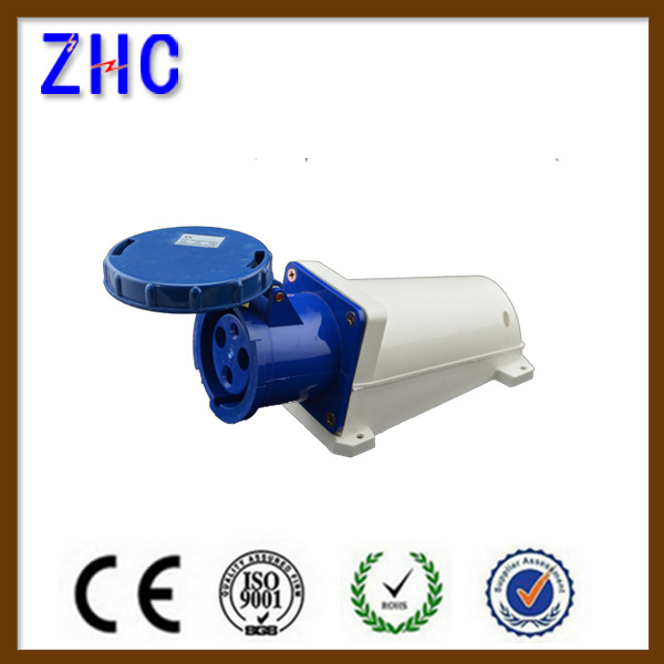 CE Approval 2p+E 63A 220 IP67 Wall Mounted Industrial Socket