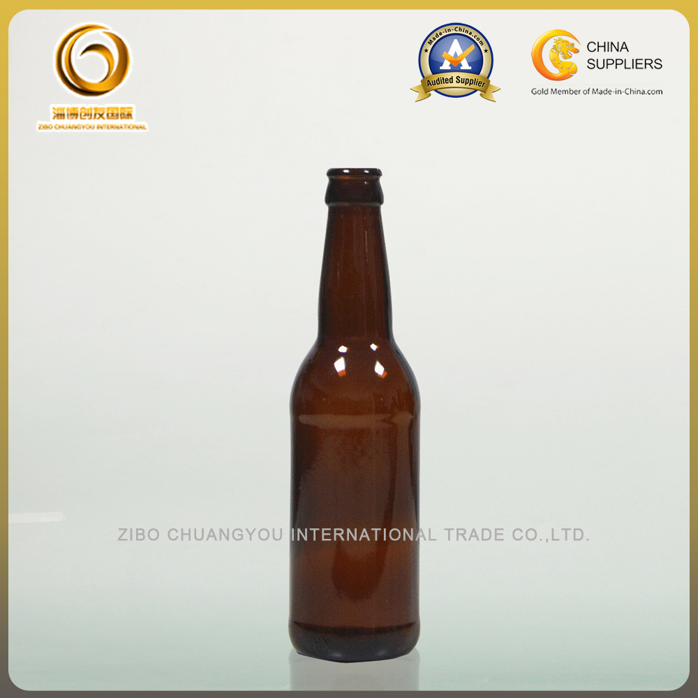 Wholesale Brown Crown Top 330ml Beer Glass Bottle (040)