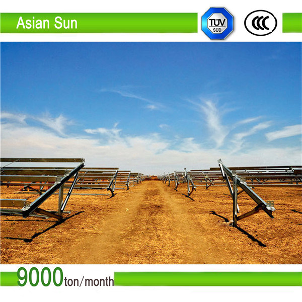 Flat Rooftop Solar Panel Mounting/Ballasted Solar Racks/PV Panel Mounting System