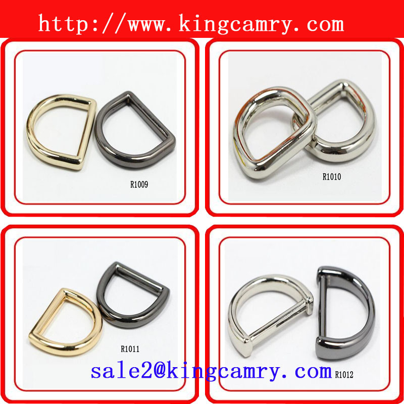 Handbag Hardware Accessories Ring Diecast Zinc D Rings Metal Ring Zinc Alloy D-Ring for Garment, Bags and Shoes Bag Ring