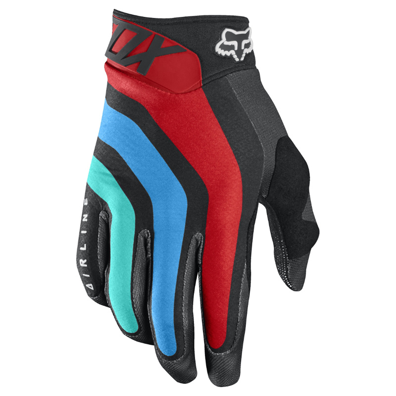 Black Airline Seca Bike Gloves Motorcycle Glove Fox Gloves (MAG117)