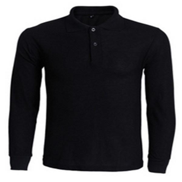 2017 Mens Long Sleeve Cotton Polo T Shirt
