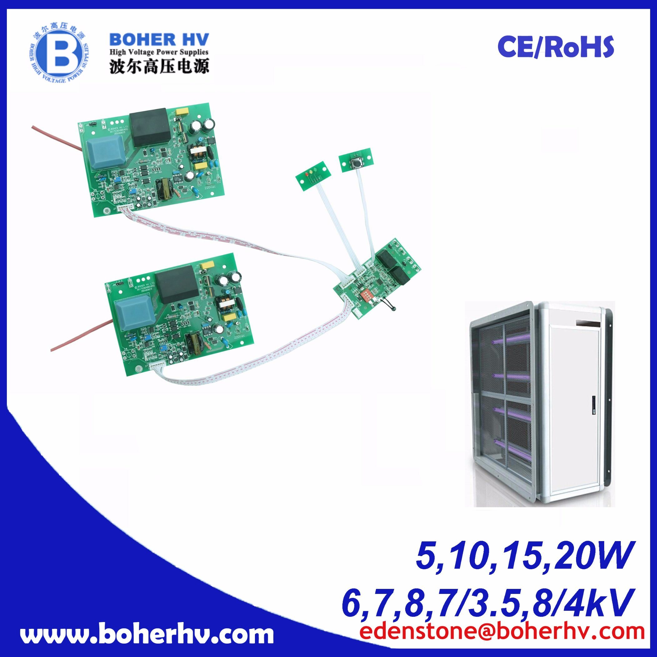 Air Cleaning High Voltage Power Supplies 20W CF02C