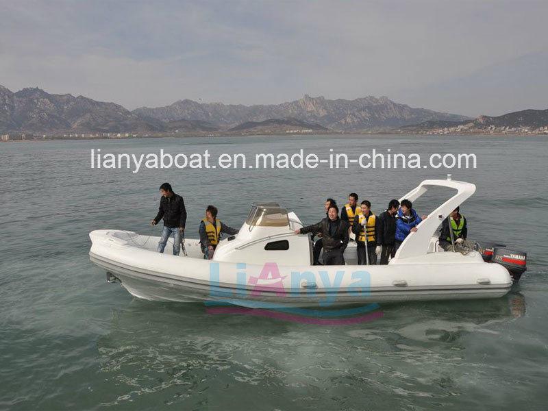 Liya 8.3m 20 Persons Rigid Inflatable Yacht Luxury Cabin Rib Boat