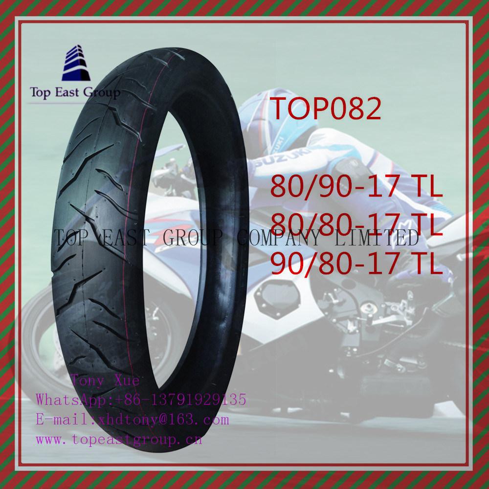 ISO Nylon 6pr Tubeless Motorcycle Tire 80/90-17tl, 80/80-17tl, 90/80-17tl