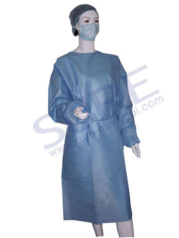 Disposable SMS Good Quality Competitive Price Surgical Gown with CE