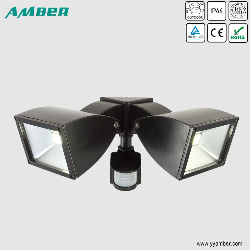 2*10W COB LED Twin Floodlight with Sensor