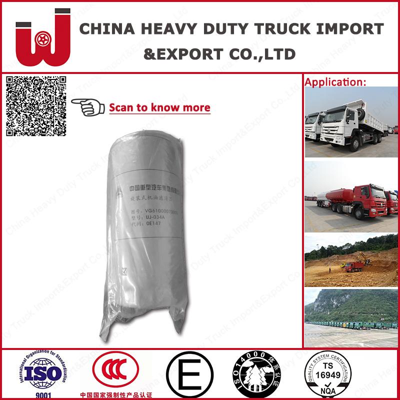Original Sinotruk HOWO Truck Oil Filter (Vg61000070005)