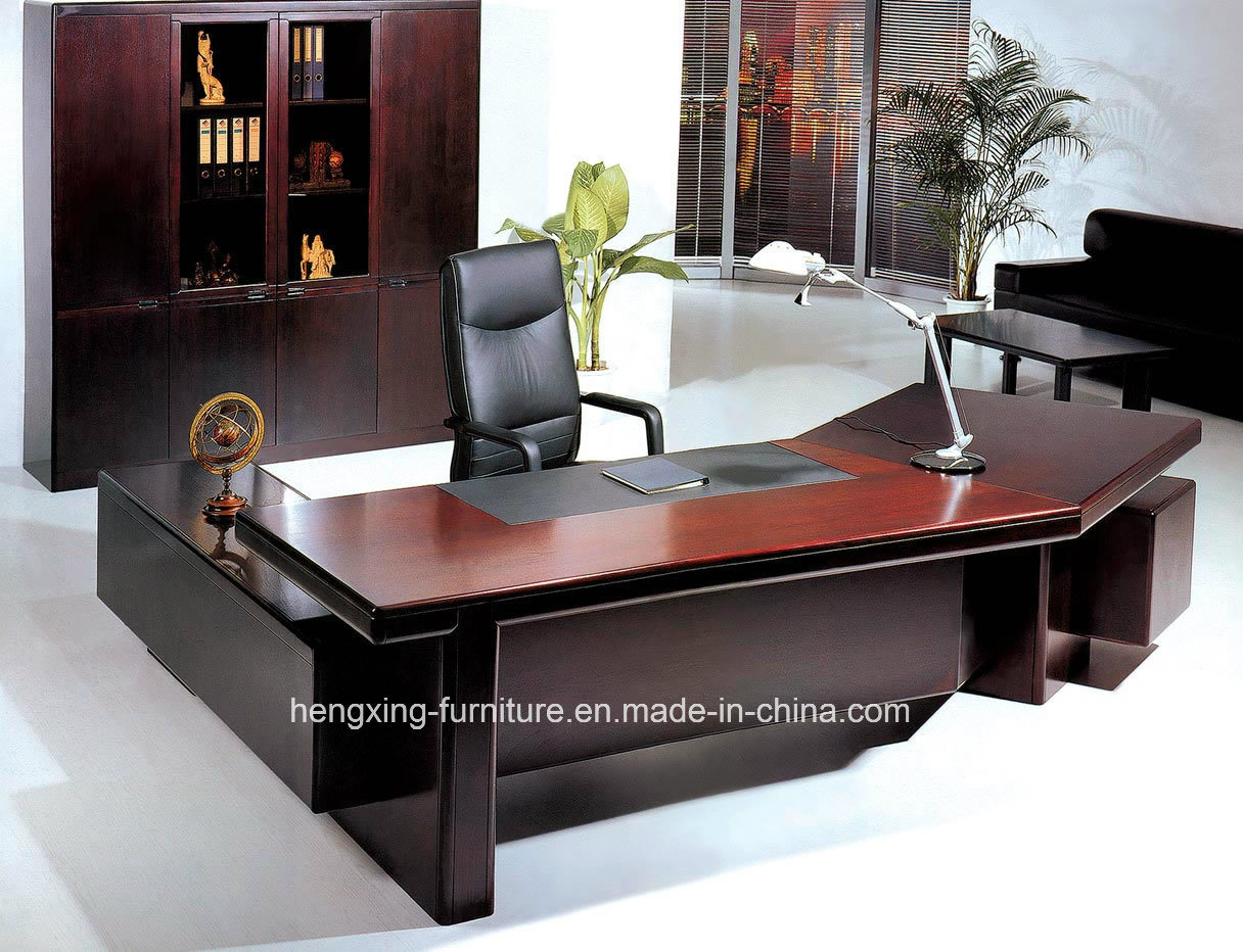 china modern office furniture solid wood veneer executive
