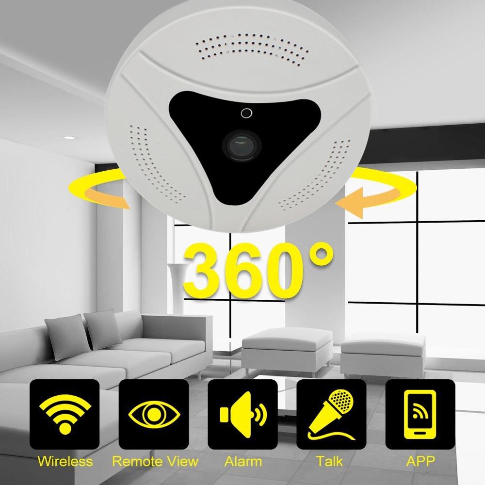 360 Viewing Angle Protation CCTV WiFi P2p Fisheye Panoramic IP Vr Camera