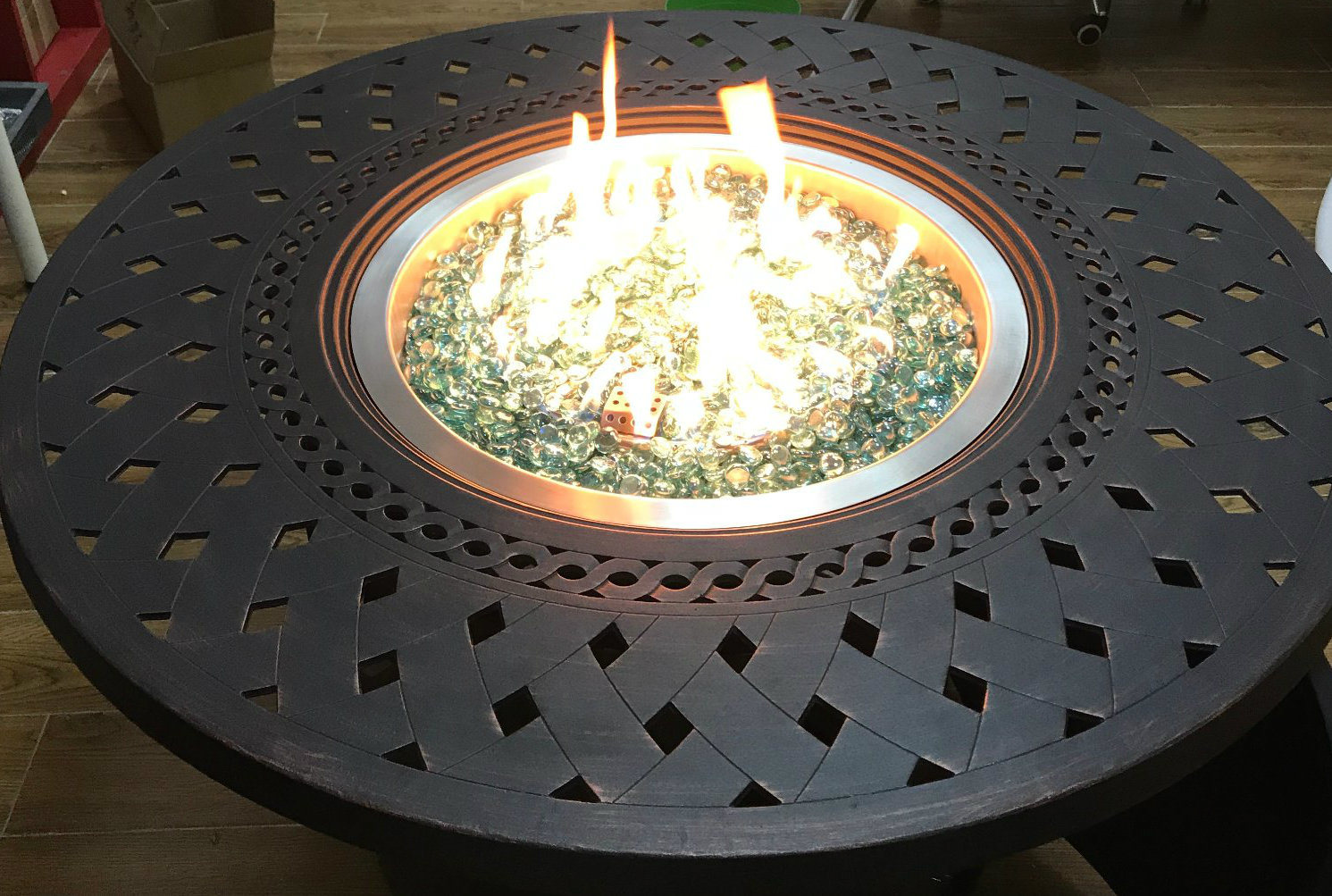 """18"""" Round Stainless Steel Drop in Fire Pit Pan"""