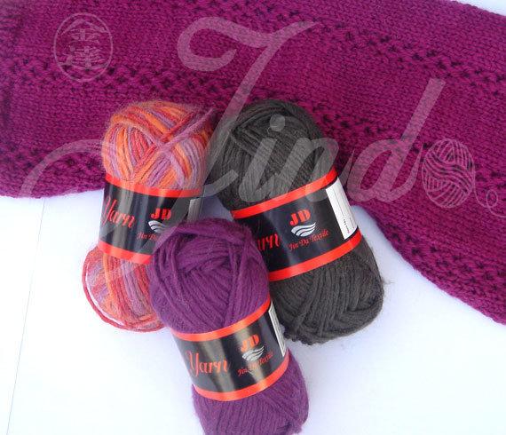 Roving Yarn 50%Acrylic 50%Wool Handknitting Yarn Chinese Supplier (Jd-8044)
